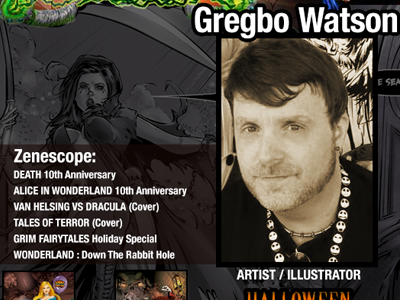 Gregbo to Appear at Retro Mega Con's Terror Fest 2015 | The Illustration Art of Gregbo Watson