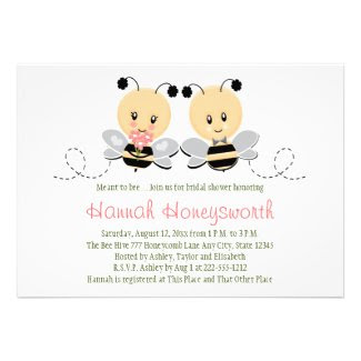 Meant To Bee Bumble Bee Bridal Shower Invitations
