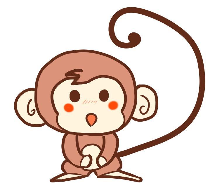 メッチャ簡単な猿サルのイラストの書き方 ポケットの中のアルバム