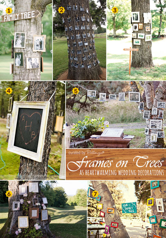 Hanging Frames On Trees At Weddings Creative Decorating Ideas