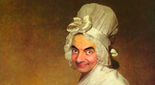 Mr. Bean digitally painted into historical portraits