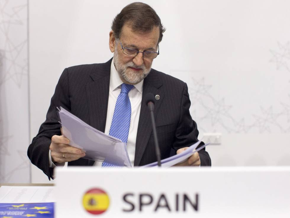 Mariano Rajoy at a recent EU summit in Malta.