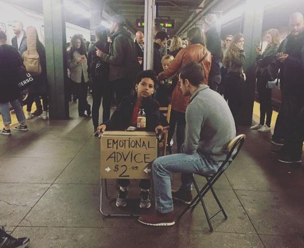 Ciro Ortiz no metrô de NY (Foto: Reprodução Instagram)