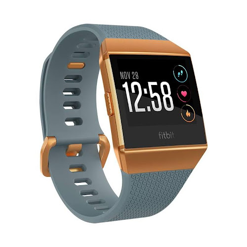 Fitbit FB503CPBU Ionic Smartwatch, Slate Blue/Burnt Orange, OS