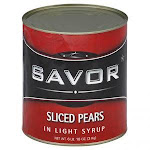 Savor, Pear Sliced in Light Syrup 6 lb (10 count)