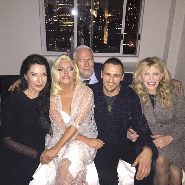Lady Gaga, James Franco e Courtney Love (Foto: Reprodução/Instagram)
