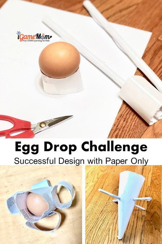 Successful Egg Drop Project Design with Paper Only - Paper Funnel