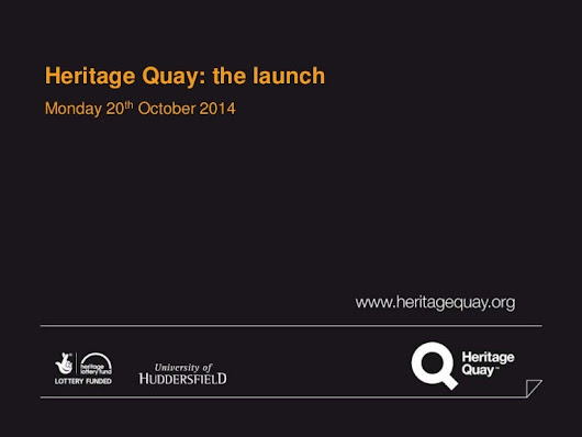 Heritage Quay - the launch