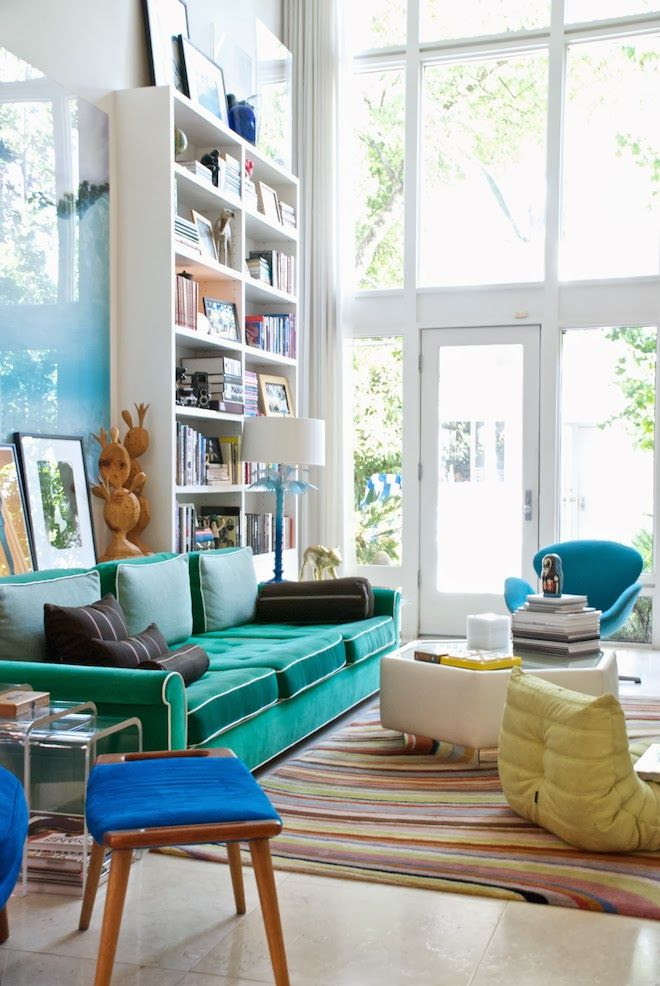Eclectic bold living room | Daily Dream Decor