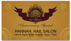 CPS-1071 - salon coupon card