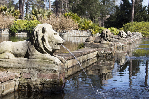 Lions at the Fountain in the Coronation Court by bahayla