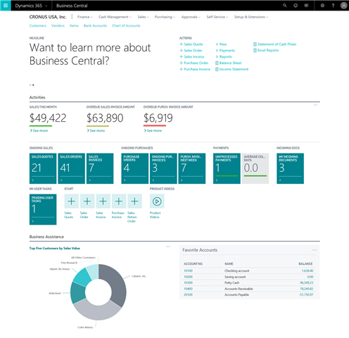 Dynamics 356 Business Central is live!