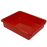ROMANOFF PRODUCTS (3 EA) 3IN RED STOWAWAY LETTER TRAY 15102BN