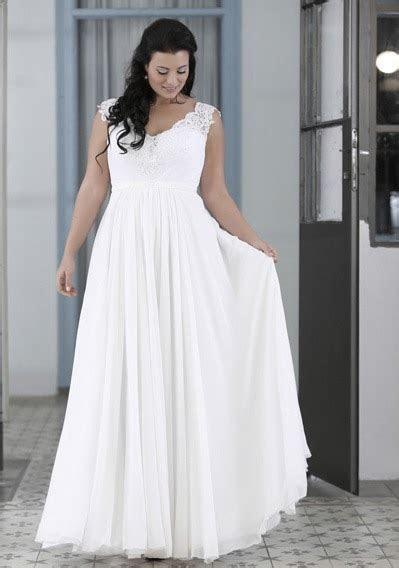 New Plus Size Chiffon Summer Beach Wedding Dresses With V