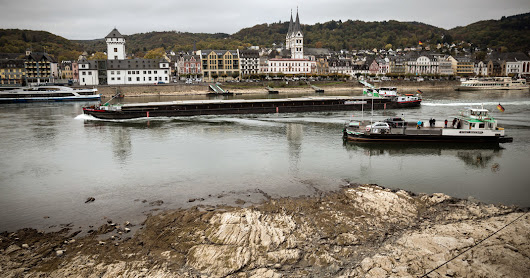 The Rhine, a Lifeline of Germany, Is Crippled by Drought - The New York Times