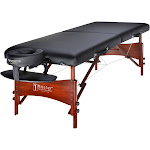 """Master Massage Newport 30"""" Professional Portable Massage Table Package with 2 Color Options Black"""