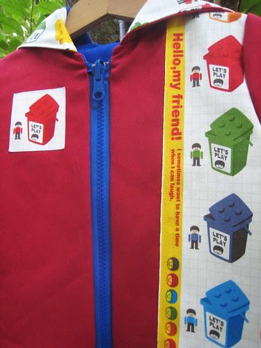 Lego hoodie selvage detail