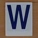 Hangman Blue Letter W