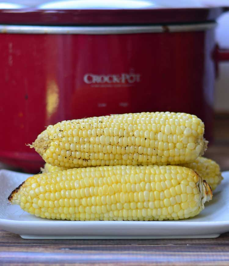 Slow Cooker Corn on the Cob by Growing Up Gabel