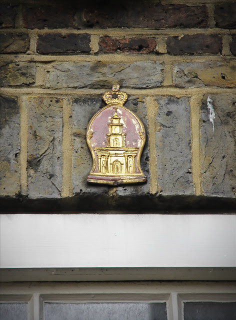 The Royal Exchange Assurance fire mark in Goodwins Court
