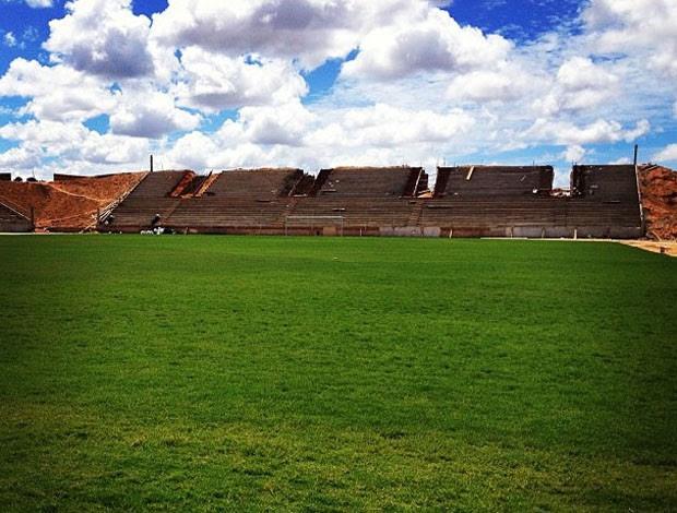 Estádio Barretão está sendo construído no município de Ceará-Mirim, na Grande Natal (Foto: Alan Oliveira/Cedida)