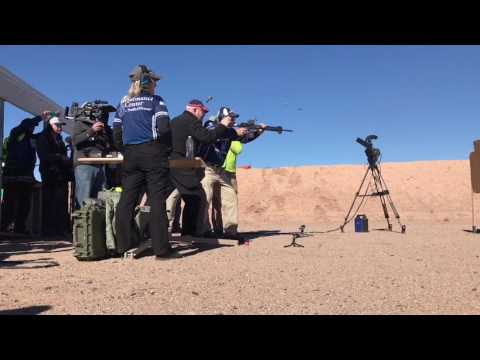 Jerry Miculek's New World Record: 10 shots on 3 Targets in 1.59 Seconds