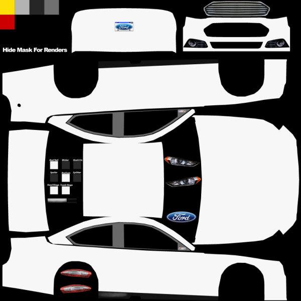thebrownfaminaz: Blank Nascar Car Template