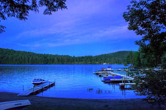 Brant Lake Ny Blue Hour  by Christina Rollo
