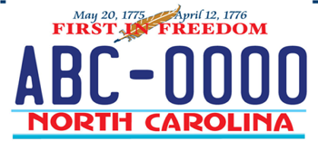 """First in Freedom"" license plate"