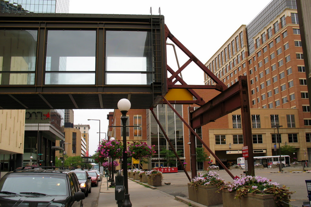 You've reached the end of the skyway system in St Paul.