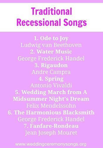 Recessional Songs   wed: general ideas   Wedding Songs