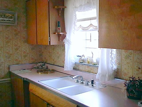 kitchen with wallpaper 2001