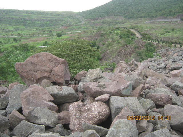 Cut, Demolished & Destroyed Hill of XRBIA Hinjewadi Pune - Nere Dattawadi, on Marunji Road, approx 7 kms from KPIT Cummins at Hinjewadi IT Park - 63