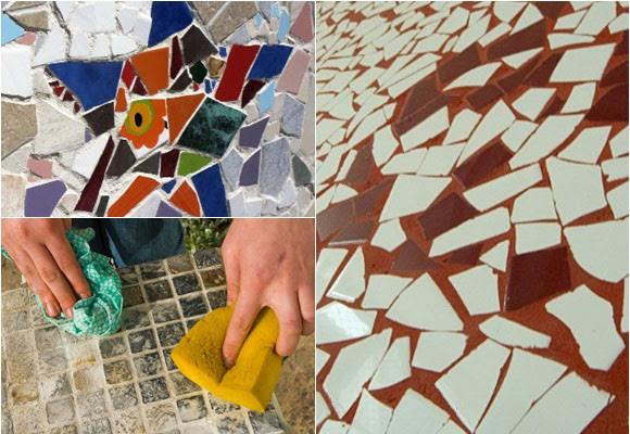 Mosaico Facil Con Azulejos Rotos Manos Creativas