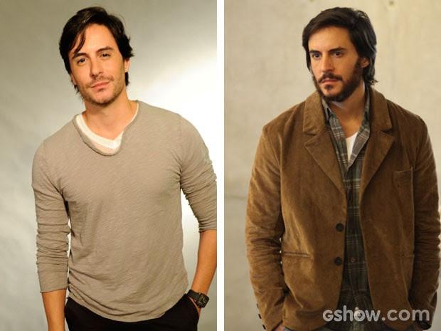 Tozzi antes e depois: sem e com a charmosa barba (Foto: Estevam Avellar e Pedro Curi/TV Globo)
