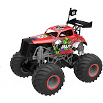 CIS-Associates 333-19163B-R 1-16 Scale Big Wheel Toy Truck with Mad Max Body Red