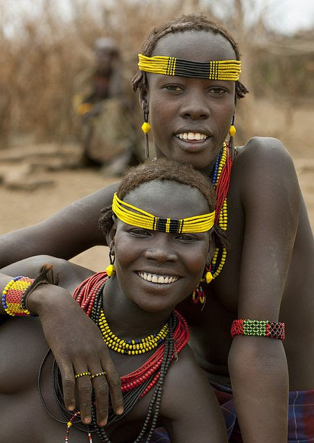Dassanetch girls - Omorate Ethiopia by Eric Lafforgue, via Flickr