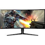 """LG Ultragear 34"""" WQHD LED Curved Gaming Monitor with Radeon FreeSync - 34GK950F-B"""