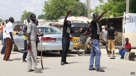 Vigilantes in Maiduguri. File photo