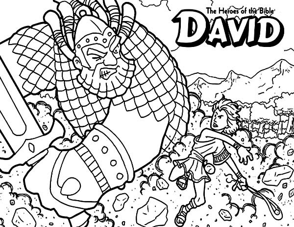 David The Bible Heroes Coloring Page