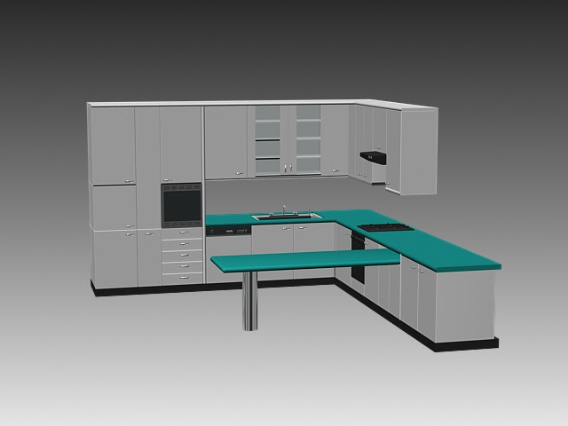 Autocad 3d Kitchen Design