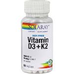 Solaray Vitamin D3 & K2 60 Vegetarian Capsules