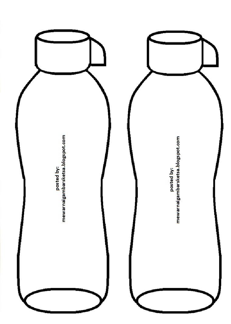 10 Ide Gambar Sketsa Botol Minuman Tasya Schuh