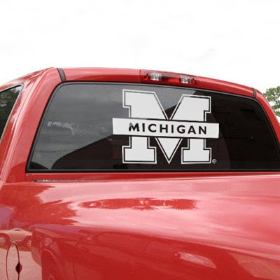 University of michigan college decal sticker 15 x 18 car decal stickers and sports stickers