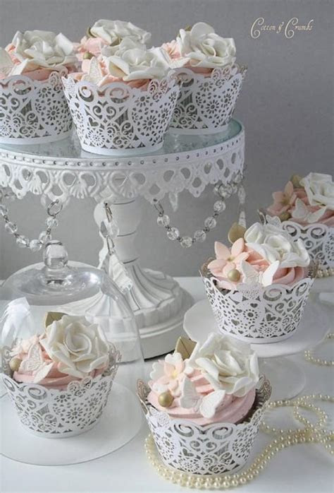 special yummy wedding cupcake decorating gorgeous lace