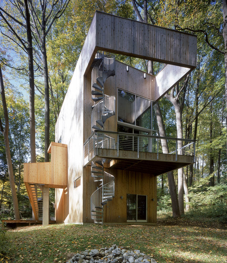 Two Hillside Cabins In The Trees By Feldman Architecture: Sander Architects