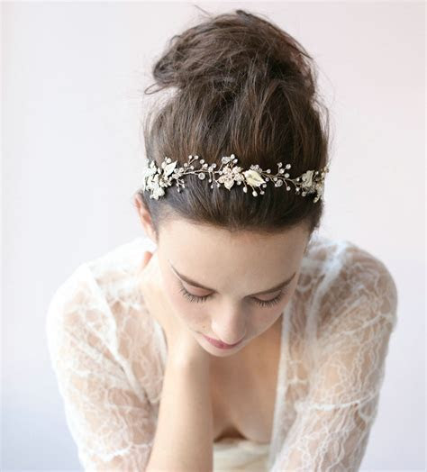 Buy Wholesale Luxury Beaded Gold Blossom Hair Vine Crystal