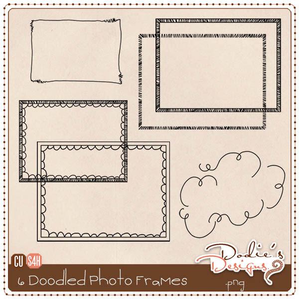Doodled Photo Frames - Set 1