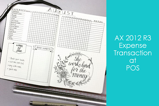 ePOS | AX 2012 R3 | Expense account transaction