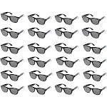 Party Sunglasses - 24-Pack Vintage 80s Retro Trendy Style Black Party Glasses, Kids Birthday Party Favors, Perfect for Bachelorette or Bachelor Party